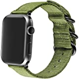 AGUPERFIT Nylon Bands Compatible with Apple Watch 42mm 44mm, Robust and Breathable Replacement Strap Works with iWatch Series