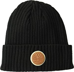 69526327 Timberland Men's Short Watch Cap with Woven Label, Black, One Size ...