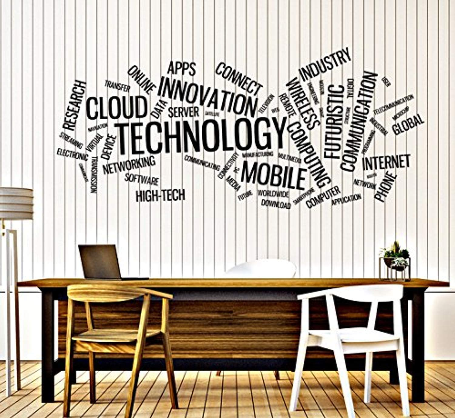 Vinyl Decal Wall Sticker Technology Word Cloud Innovation Connect Size 22x50 I