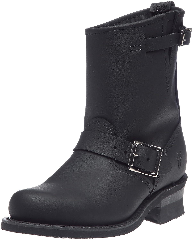 FRYE Women's Engineer 8R Ankle Boot B002NB9WM6 5.5 B(M) US|Black Greasy-77500