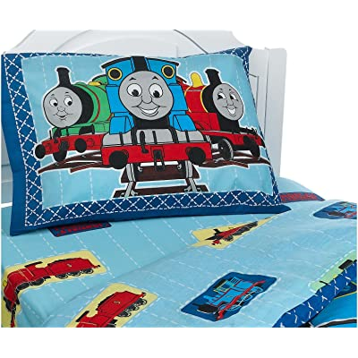 Thomas and Friends Patchwork II Standard Pillowcase: Home & Kitchen