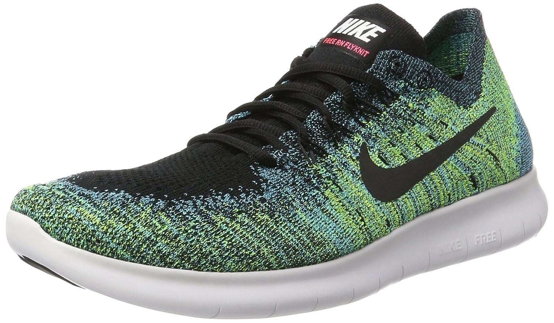 Nike Men's Free- RN Flyknit 2017 Running Shoe B06ZZ8ZZL7 8.5 D(M) US|BLACK/BLACK-VOLT-CHLORINE BLUE