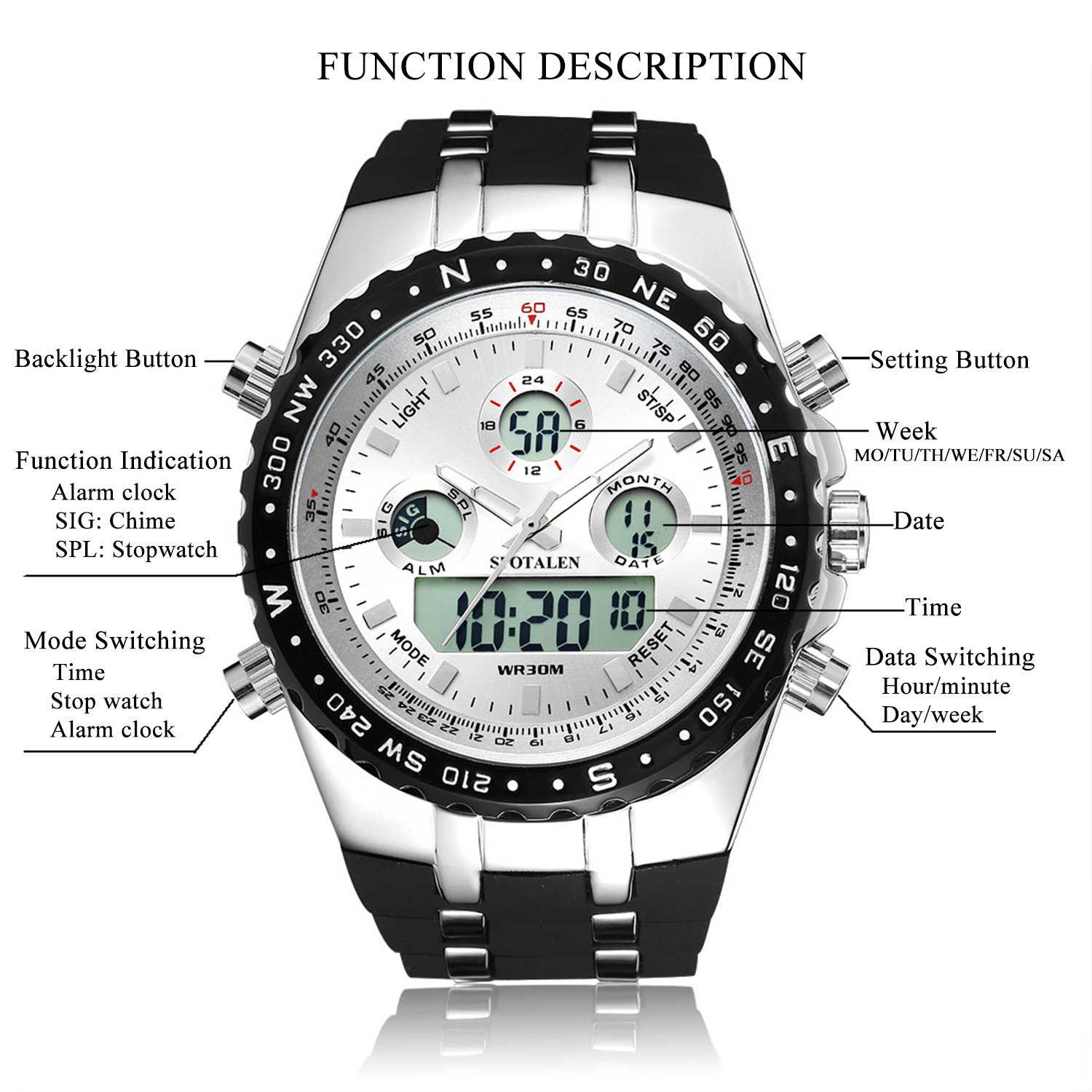 womens digital watch baby free white watches overstock women product g s resin shipping analog today casio beach jewelry