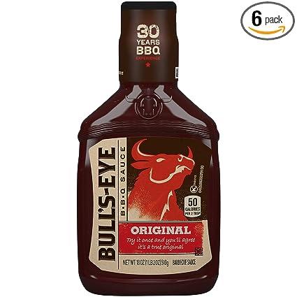 Amazon Com Bull S Eye Original Barbecue Sauce 18oz Bottles