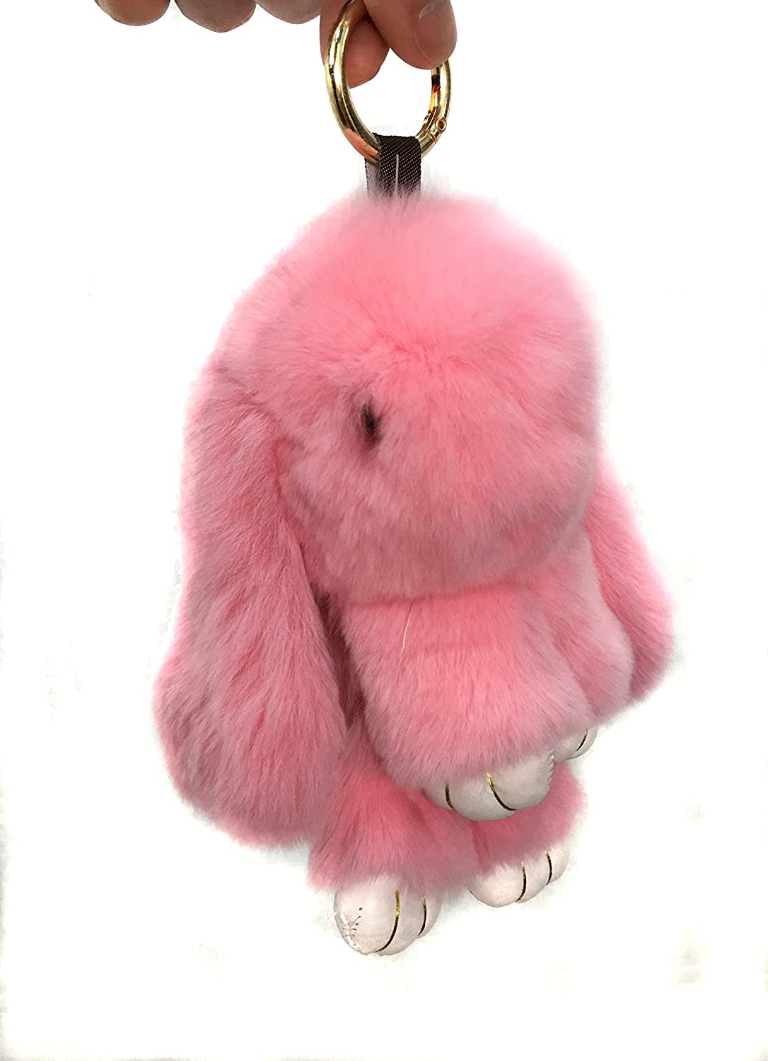 Rex Rabbit Fur Keychain Cute Rabbit Doll Keychain Pendant RRD-0011