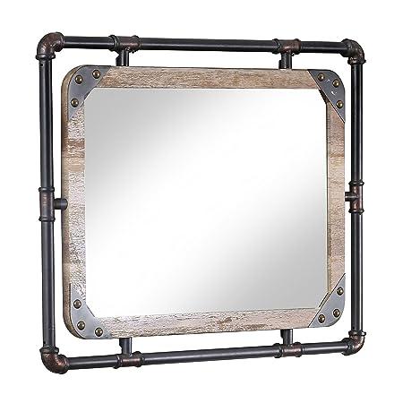 24 7 Shop at Home 247SHOPATHOME IDF-7914M Wall Mirror, Black