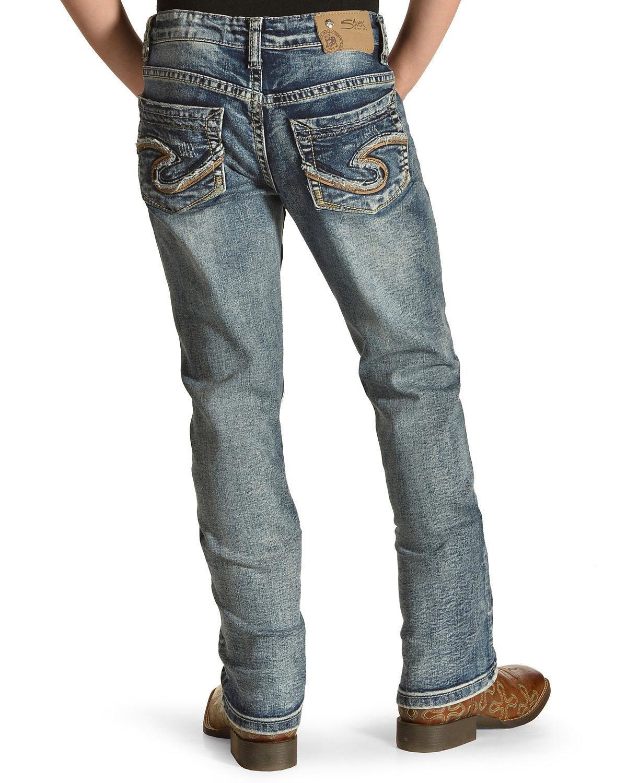 Silver Girls' Tammy Dark Wash Jeans Boot Cut Indigo 6