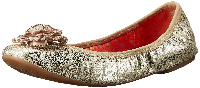 gold Crackle Metallic Lindsay Phillips Women's Liz Ballet Flat