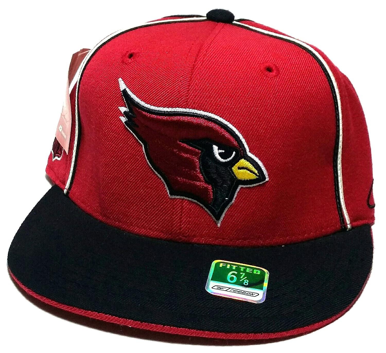 Arizona Cardinals AZ新しいNFLリーボックThrowbackレッドブラックEra Fitted Hatキャップ6 7 / 8   B075K9VM2T
