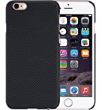 [PITAKA-正規品] iphone 6 /6sケース アイフォン6 ケース スマホ 携帯カバー 防弾材料 アラミド製 超スリム 薄型 防水 防塵 耐衝撃 シンプル 高級感 欧米風 強化ガラスフィルム付き (黒/灰)