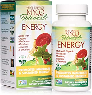 product image for Host Defense, MycoBotanicals Energy, Promotes Immediate and Sustained Energy, Daily Mushrooms and Herb Supplement with Reishi and Cordyceps, Vegan, Organic, 60 Capsules (30 Servings)