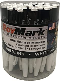 product image for RevMark White Ink Industrial Marker - 50 Pack Tub (Made in the USA) (White)