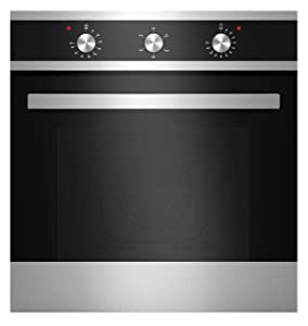 "Empava 24"" Tempered Glass Electric Built-In Single Wall Oven Black