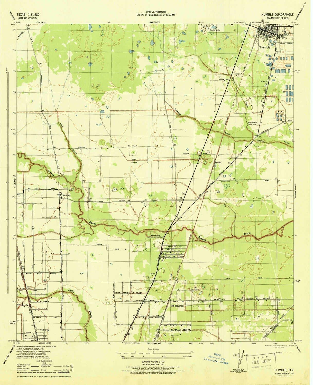 Amazon Com Yellowmaps Humble Tx Topo Map 1 31680 Scale 7 5 X 7 5