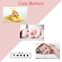 100yellow Cute Baby Poster, 12x18-inches, Set of 3, Paper, Multicolour