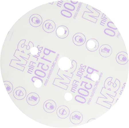 3M Company 3M-30667 6 in Purple Finishing Film Hookit Disc P1500 Grit