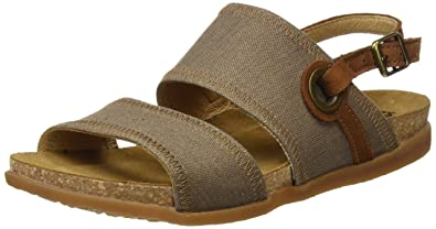 Authentic Amazing Price For Sale El Naturalista Women's N5241T Seaweed Canvas-Pleasant Zumaia Flat Sandal Good Selling Online Perfect For Sale Bt9fGl1Dzc