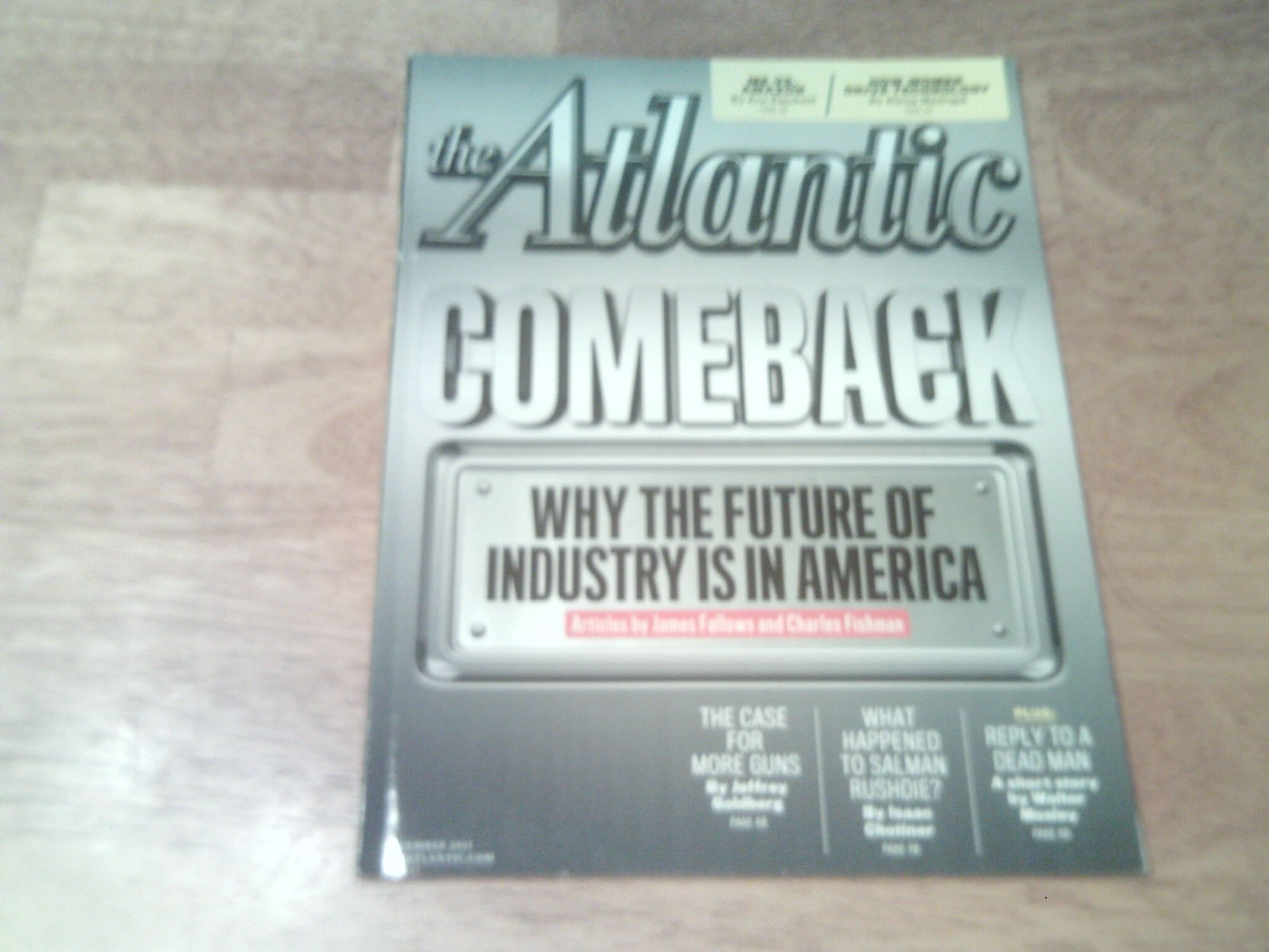 The Atlantic Magazine (December, 2012) ebook