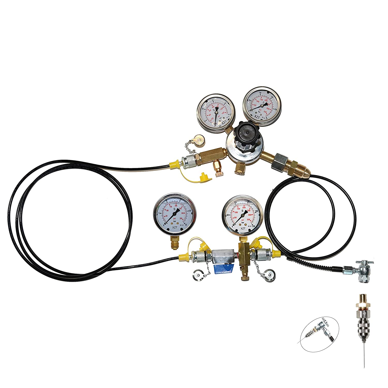 XZT S4 Aircraft Aviation Tools Schrader Nitrogen Gas Pressure Test kit,Nitrogen Gas Charging kit,High Pressure Struct No Air Loss Coupler 556,Couplings to Fill Shocks