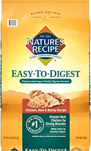 Nature's Recipe Easy to Digest Dry Dog Food, Chicken, Rice & Barley Recipe, 24 Pounds