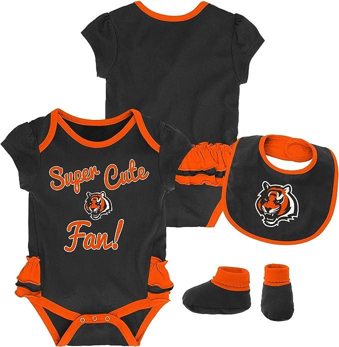 NFL Infant All I Do Short Sleeve Onesie-Black-18 Months Cincinnati Bengals