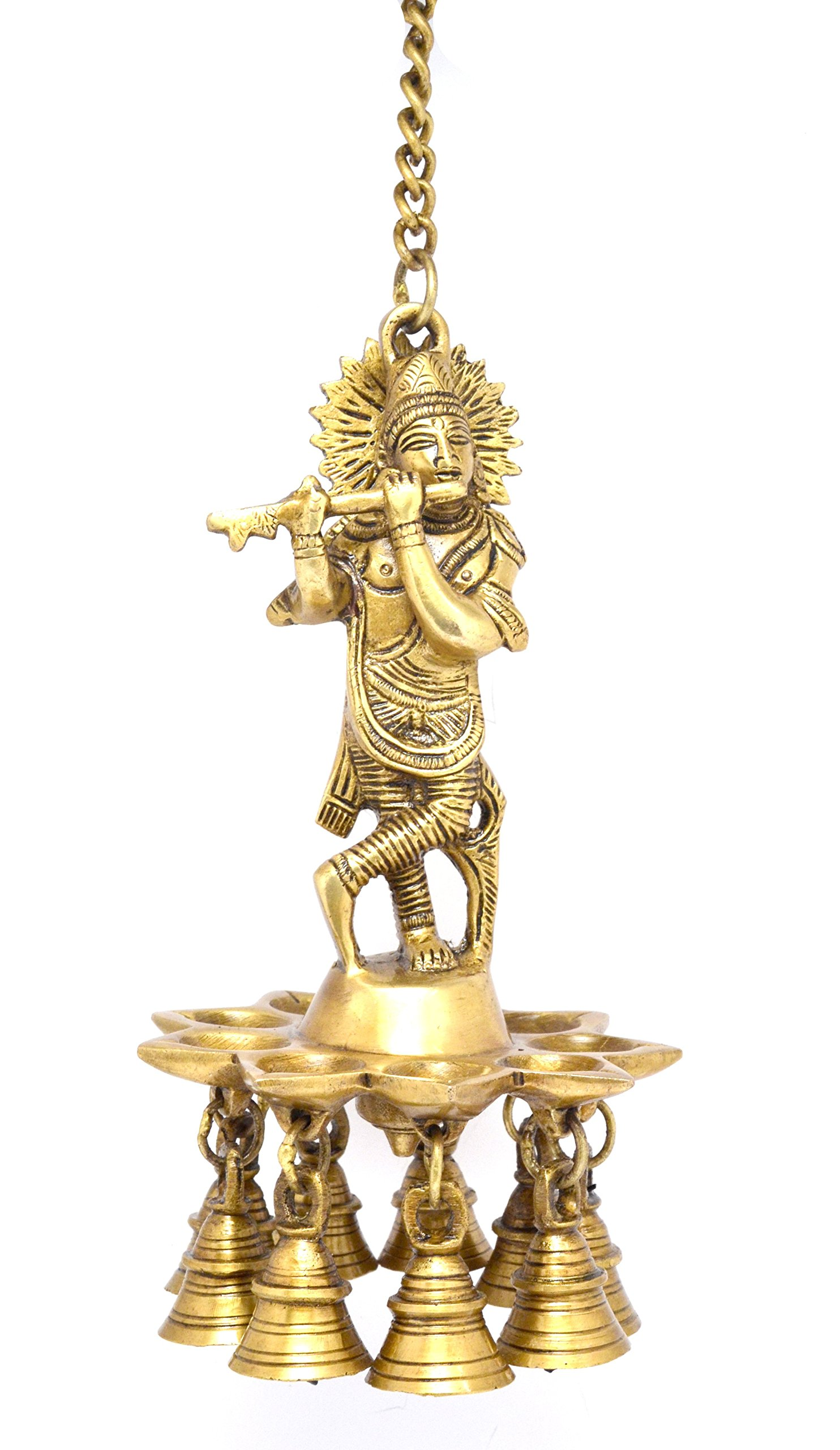 Two Moustaches Krishna Hanging Brass Diya | Home Decor |