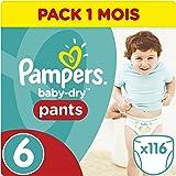 Pampers Baby-Dry pantalones, tamaño 6, paquete de 3