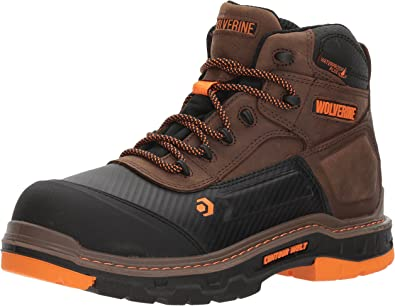 "Amazon.com | WOLVERINE Men's Overpass 6"" Composite Toe Waterproof Work Boot  