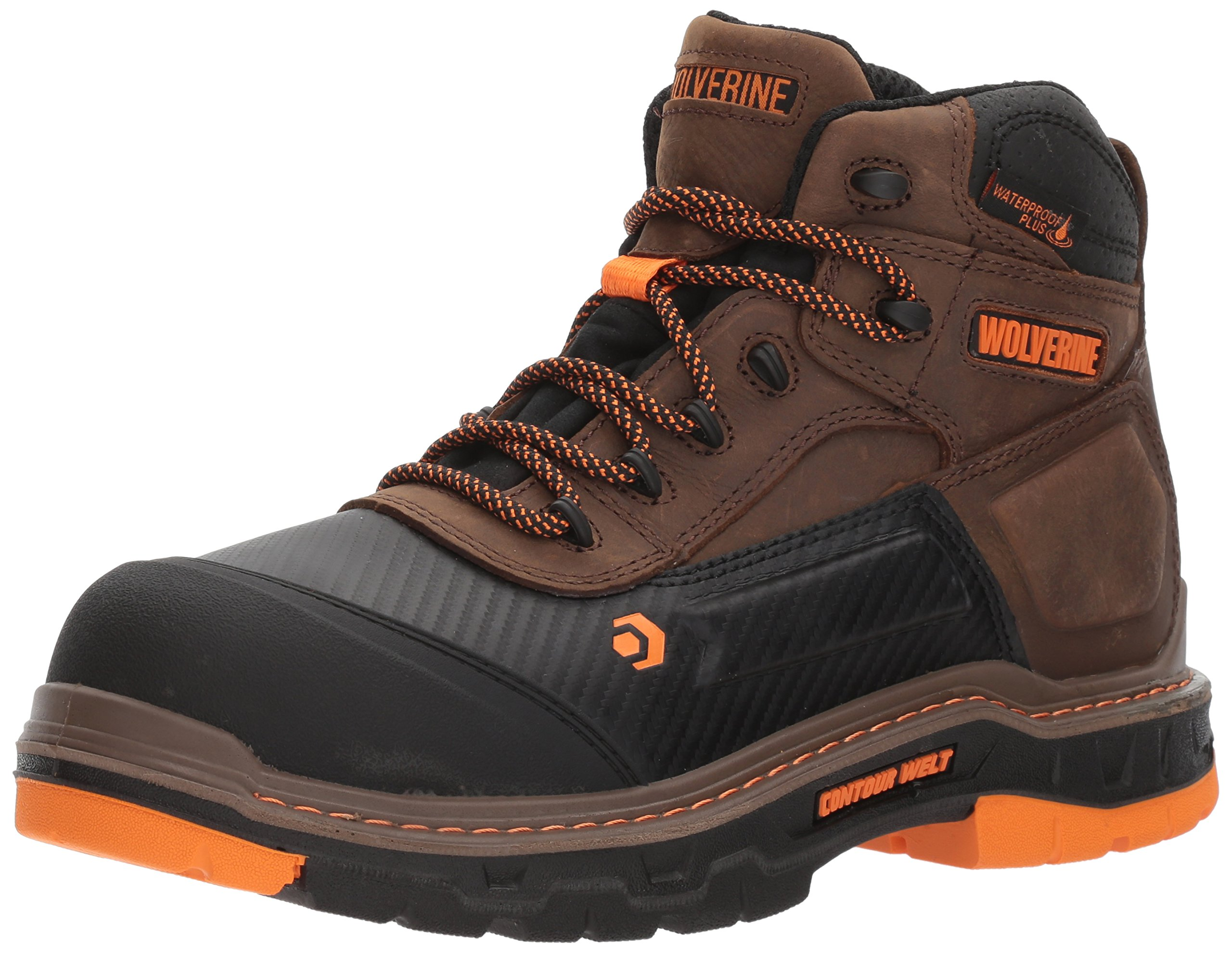 Wolverine Men's Overpass 6'' Composite Toe Waterproof Work Boot, Summer Brown, 12 M US