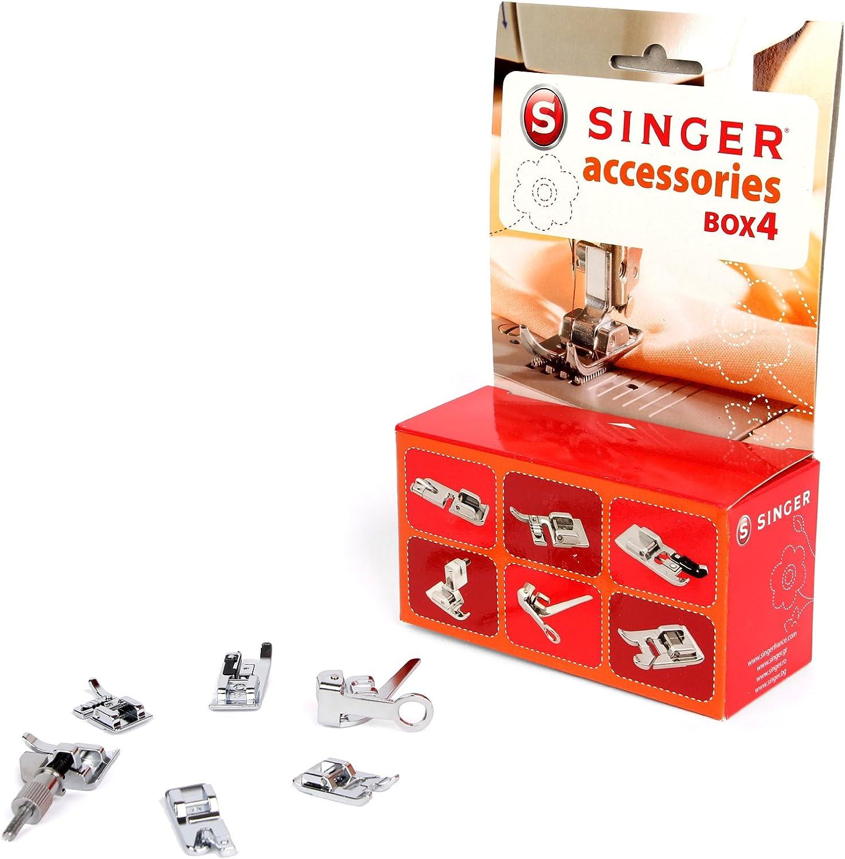 Singer Kit Accessoires 4 - Kit de Accesorios nº 4 para máquina de Coser (pies prensatelas): Amazon.es: Hogar