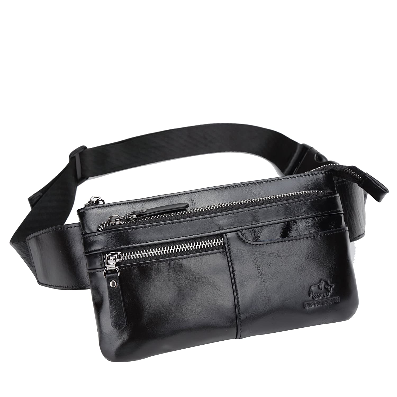 4f705d0500b Amazon.com | BISON DENIM Leather Waist Pack Fanny Pack Men's Hip ...