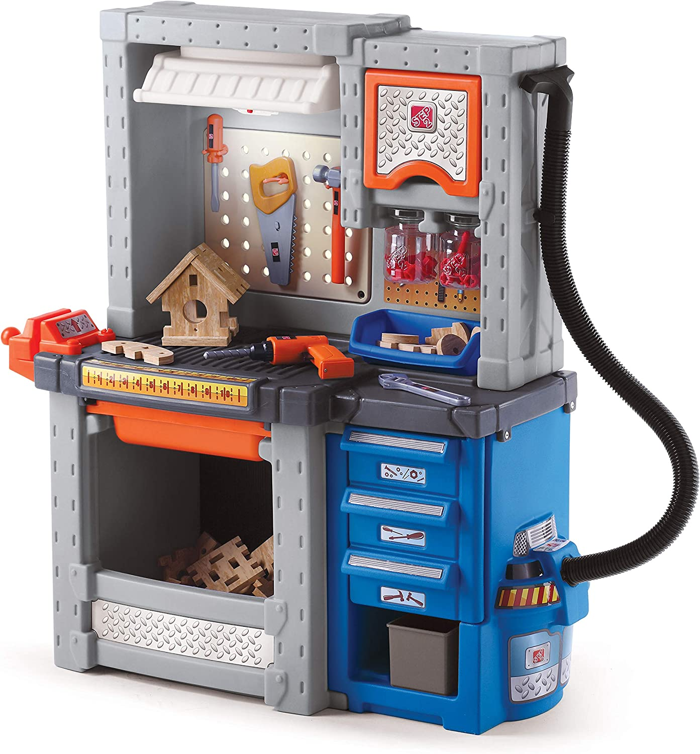 Step2 Deluxe Workshop Playset, Multi Color, 34 x 15 x 40.75 inches