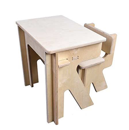Swell Print2D3D Childrens Desk And Chair Set No Tool Diy Complete Home Design Collection Barbaintelli Responsecom