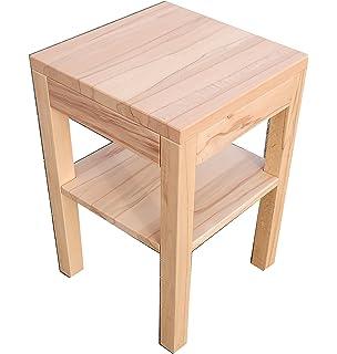Holztischcouchtisch Erle Massiv Colonia Maße 60x60x50cm Auch