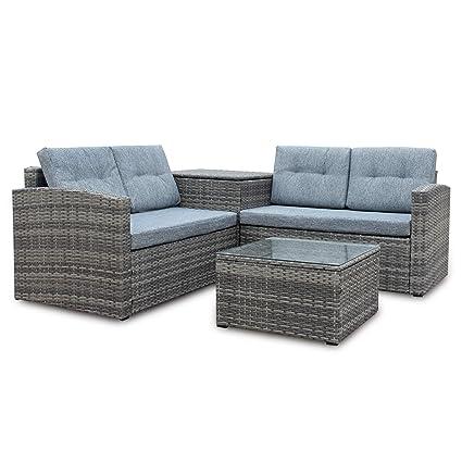 Astonishing Amazon Com Flowing Years 4 Piece Patio Sofa Setgrey Machost Co Dining Chair Design Ideas Machostcouk