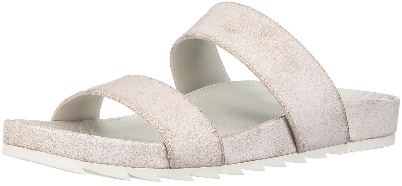 J Leger Slides Frauen Edie Offener Zeh Leger J Flache Sandalen Soft Pink Met Suede e9027c