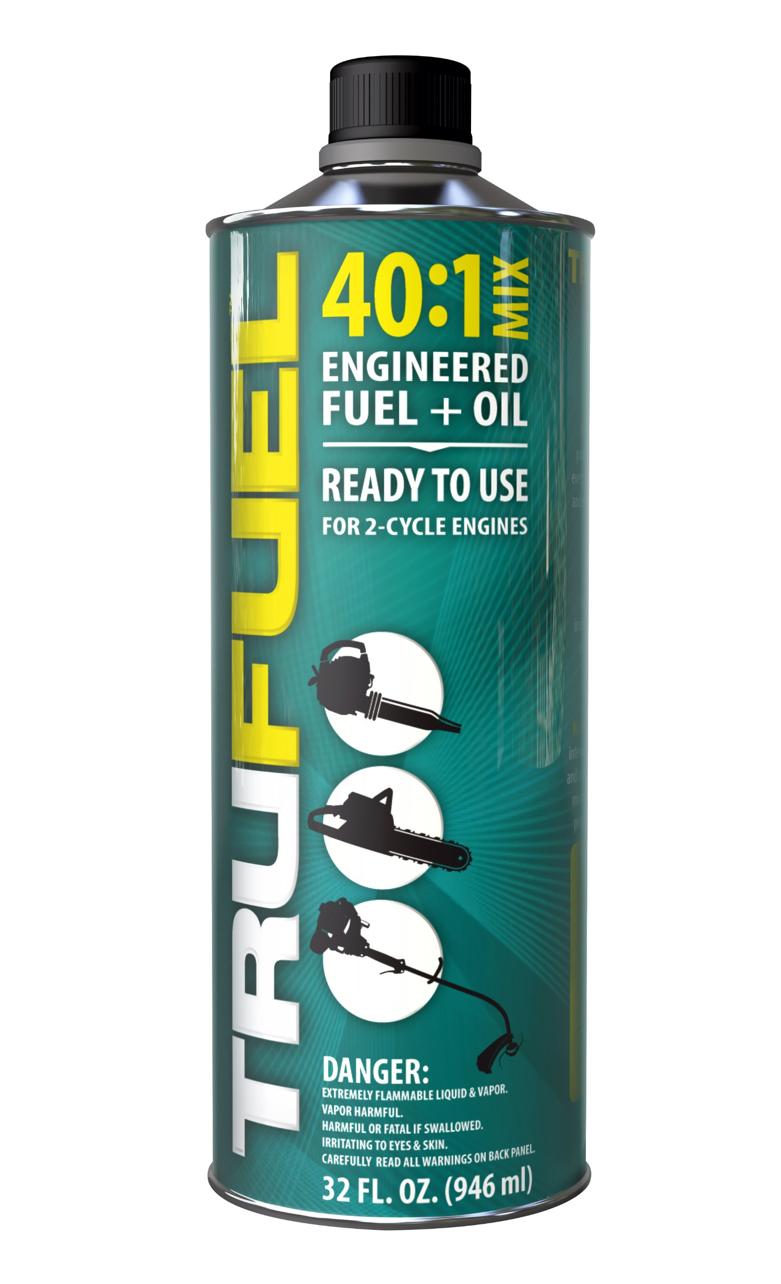 TruFuel 2-Cycle 40:1 Pre-Blended Fuel for Outdoor Power Equipment - 32 oz. (Case of 6) by TruFuel
