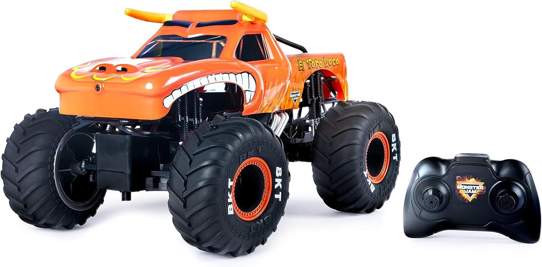 Monster Jam RC El Toro Loco-Vehículo a escala 1:15, varios colores. (Spin Master 6044992) , color/modelo surtido