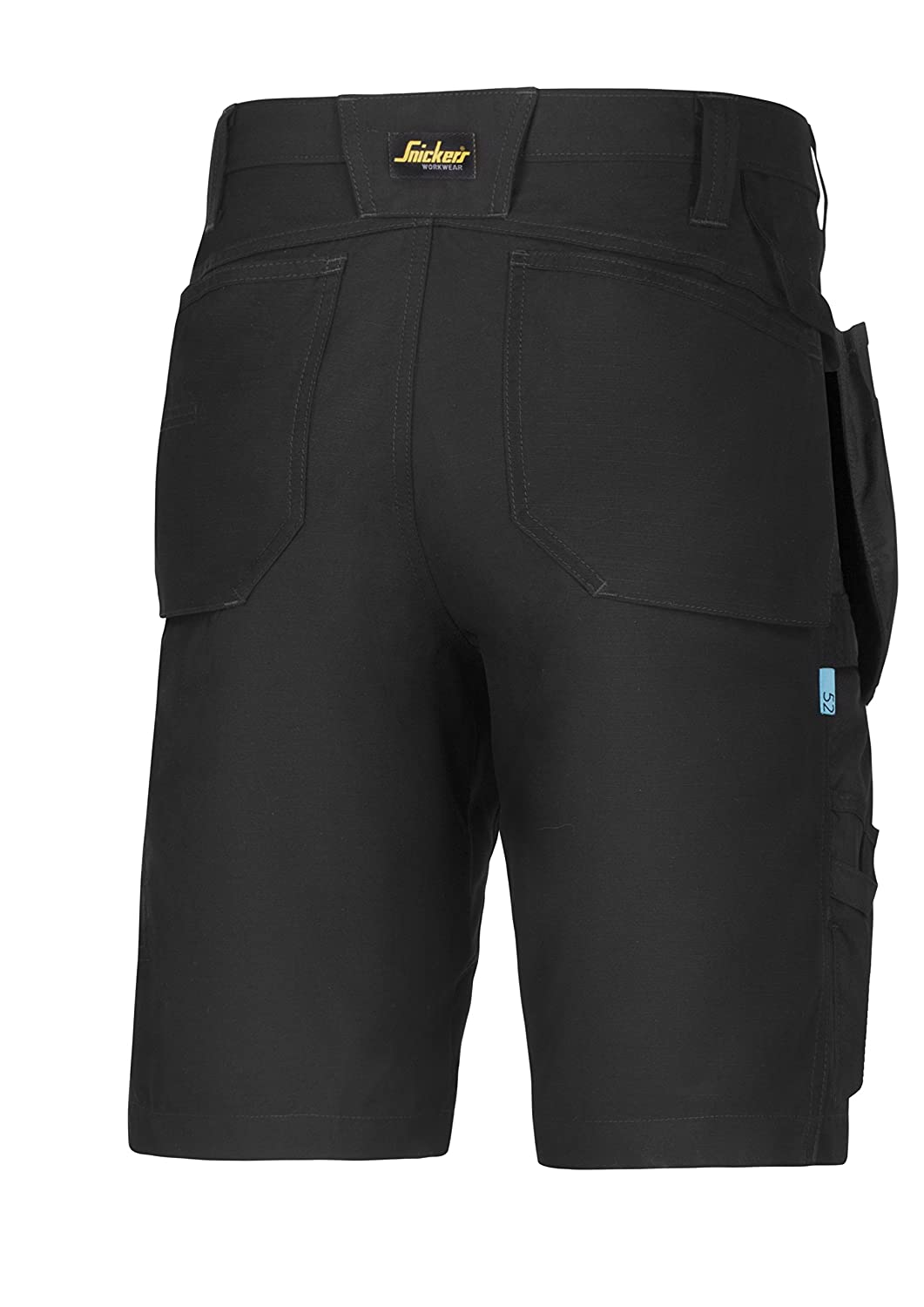 Snickers 61010404054 Size 54 LiteWork 37.5 Work Shorts with Pockets Black