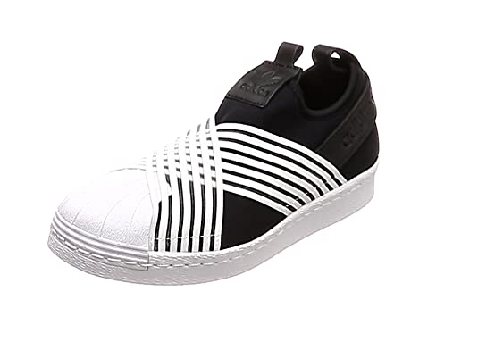adidas Superstar Slip On W, Scarpe da Ginnastica Donna, Nero Core Black Ftwr White