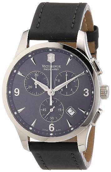 Victorinox Swiss Army - Reloj cronógrafo de cuarzo para hombre con correa de piel, color beige: Victorinox Swiss Army: Amazon.es: Relojes