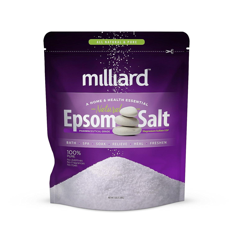 Milliard Epsom Salt 3 lbs. Magnesium Sulfate BULK Bag (1.36 KG)
