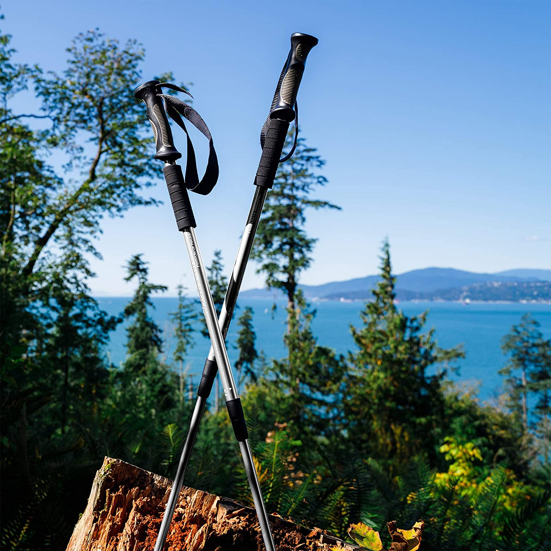 1 Pair Adjustable Anti Shock Hiking//Walking//Trekking Poles 2 Pack BAFX Products