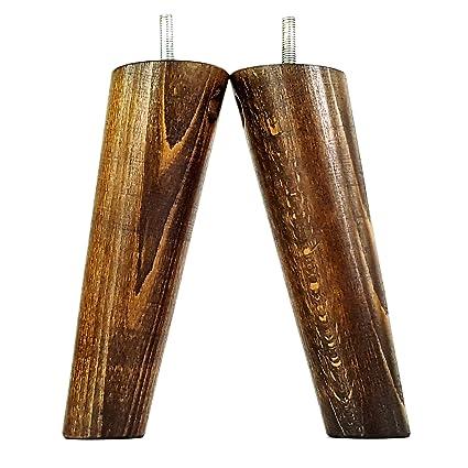 Patas de madera para sofá de 150 mm de alto, juego de 4 ...