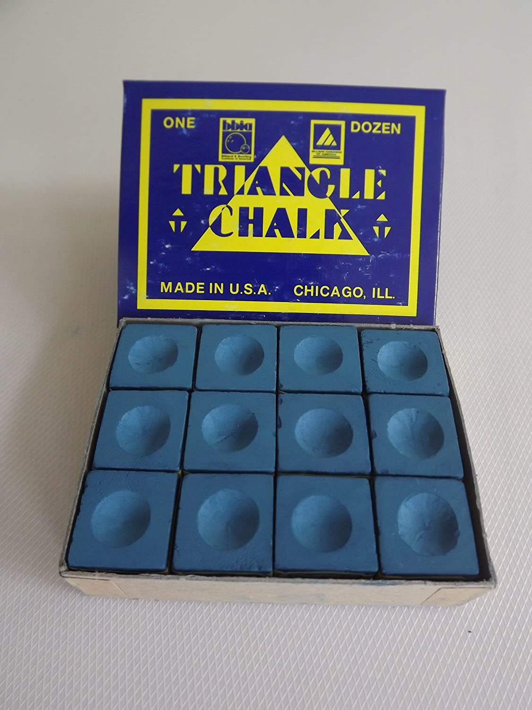 Triangle King of them all - Tiza para taco de billar, color azul, caja de 12 unidades