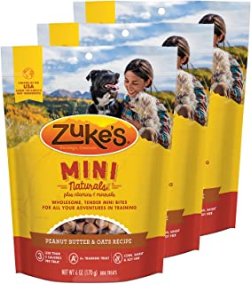 product image for Zuke's Mini Naturals Dog Treats Peanut Butter and Oats 6 oz 3 Pack