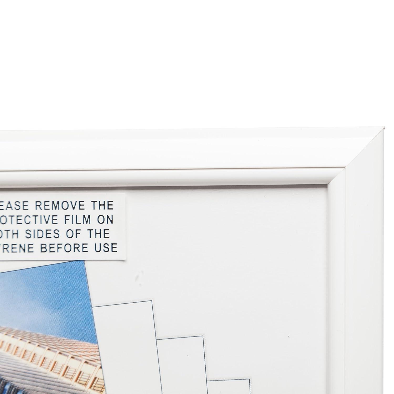 Hampton Frames EASY LOADER Poster Certificate Photo Frame Plexi White A4 21x30cm EASA4WHP