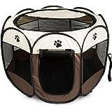 BIGWING Style Recinto per Cani - Grande Box pieghevole per cani, gatti, cagnolini da interno o esterno - Facile da montare Coffee L