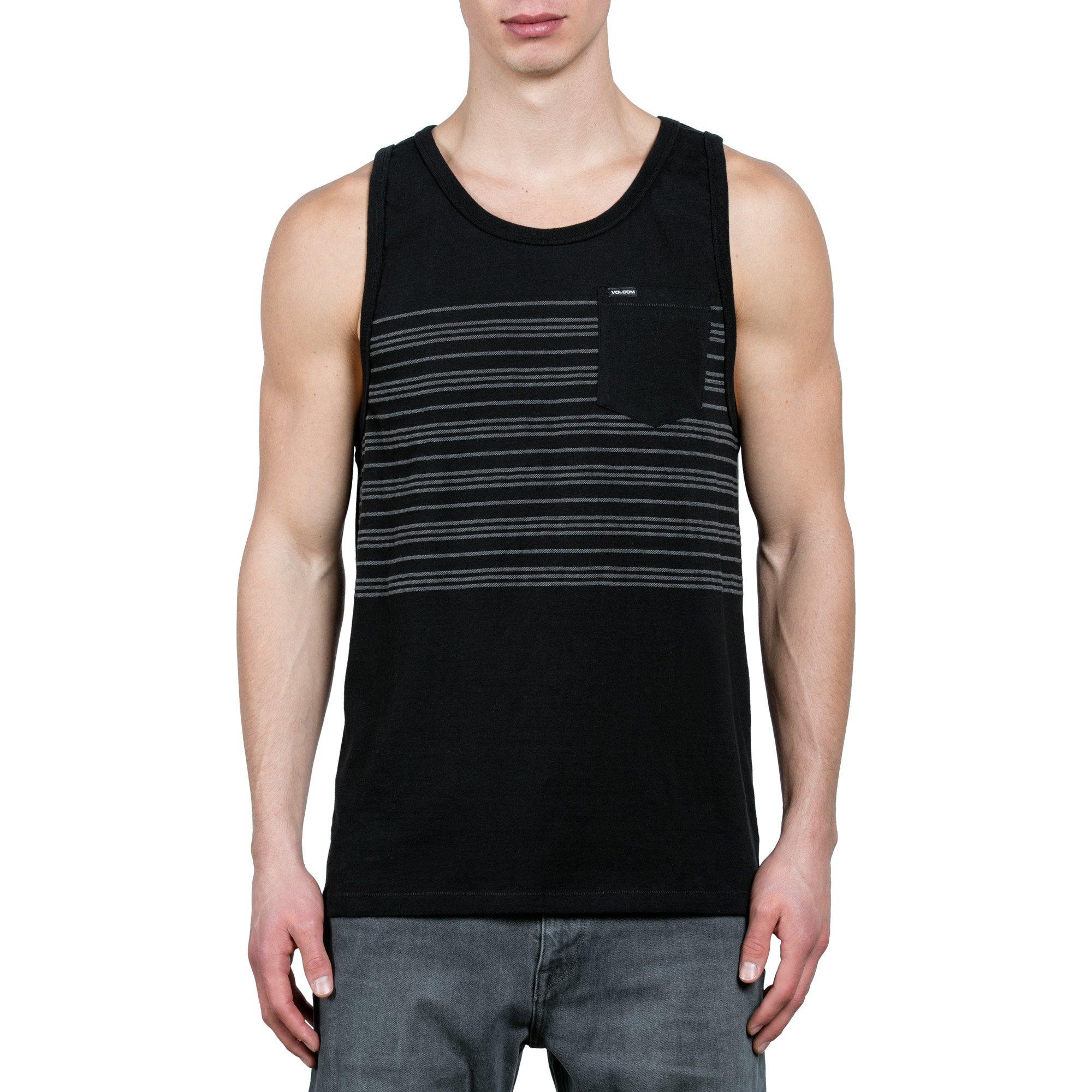 Volcom Men's Short Sleeve Threezy Crew Shirt, black S