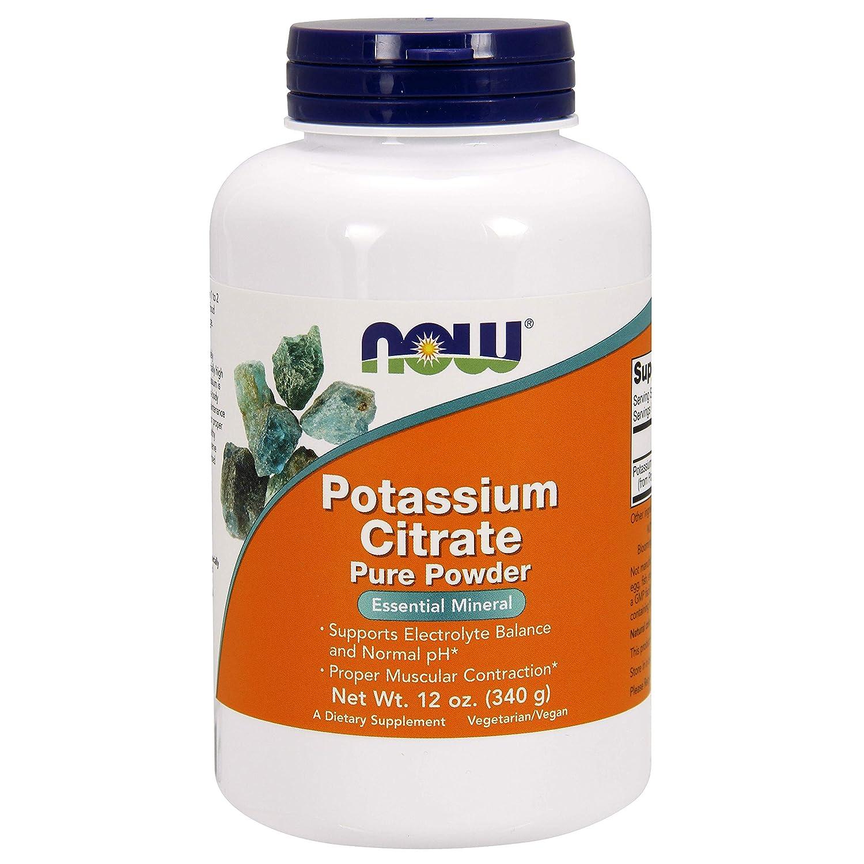 NOW Foods - Polvo del citrato Pure del potasio - 12 oz.: Amazon.es: Salud y cuidado personal